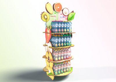 3D product visualisatie SPA TOUCH display voor supermarkten ontworpen door studiomfd